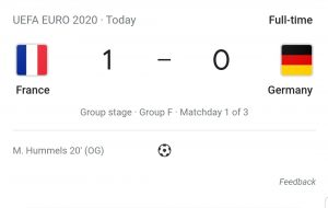 France vs Germany, Euro 2020 LIVE: Final score, goals and reactions as France beat Germany